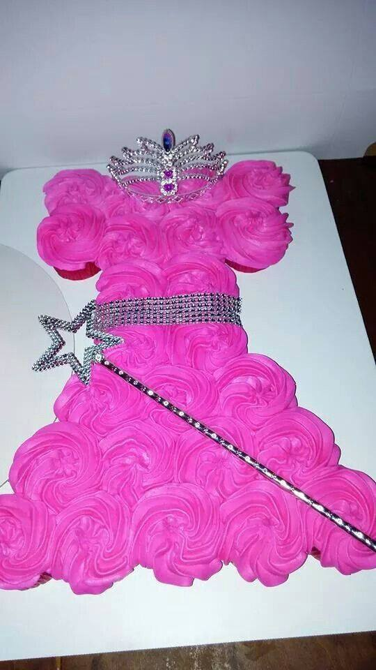 bolo vestido de princesa