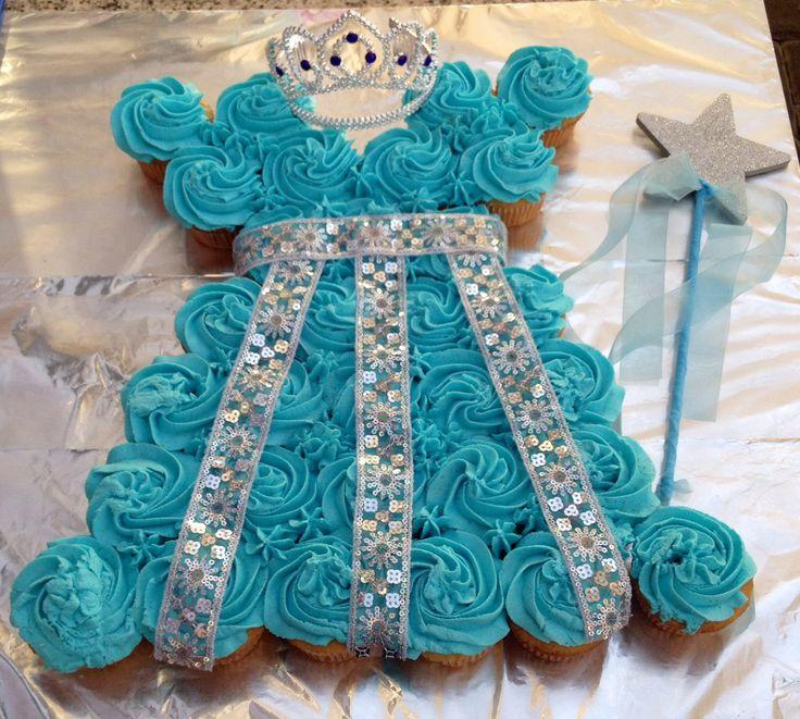 bolo vestido princesa azul