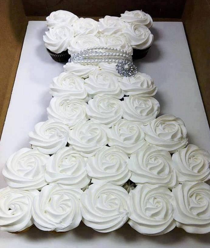 bolo vestido princesa branco