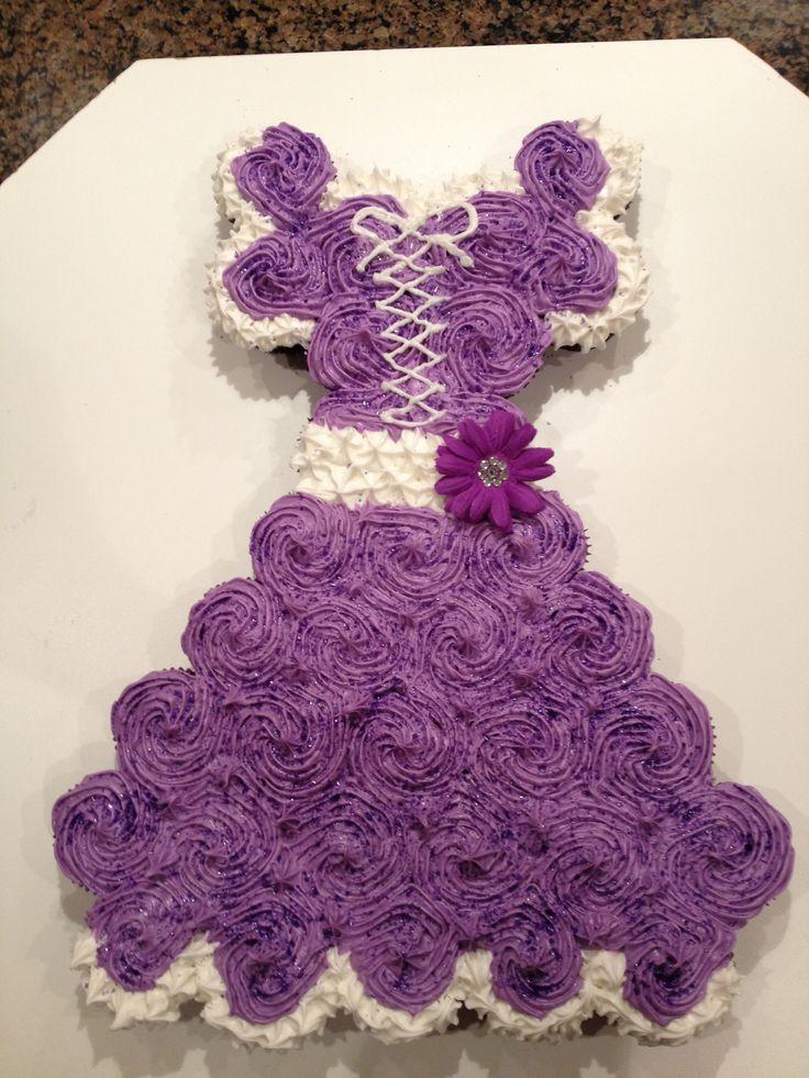 bolo vestido princesa cupcakes