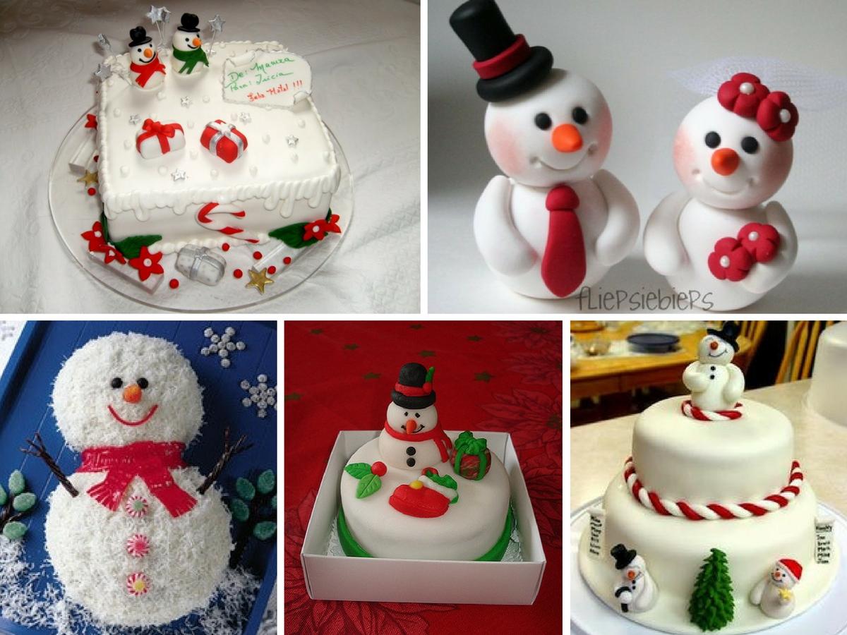 Bolos de Natal – Boneco de neve