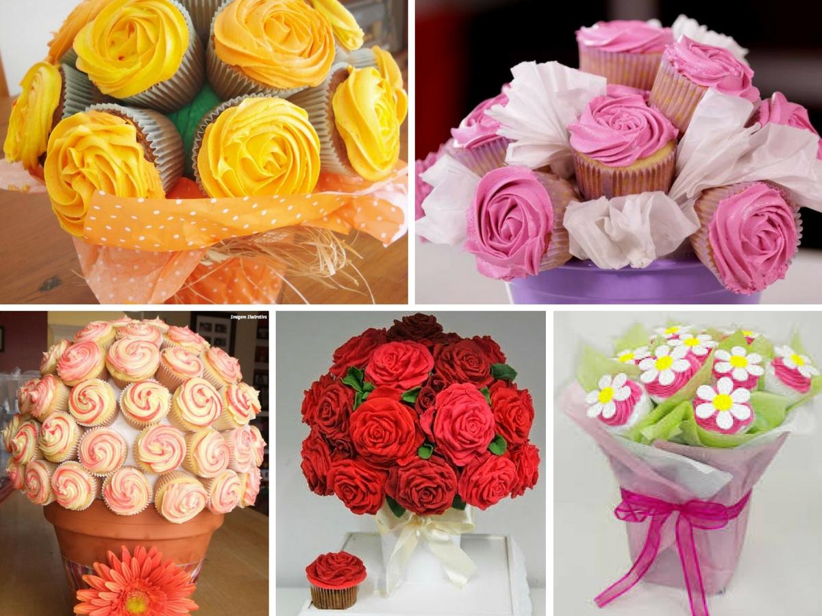 Como Fazer um Buquê de Cupcakes Passo a Passo