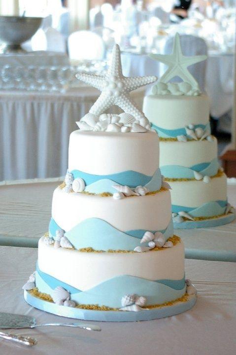 15 Bolos Casamento Com Tema Mar