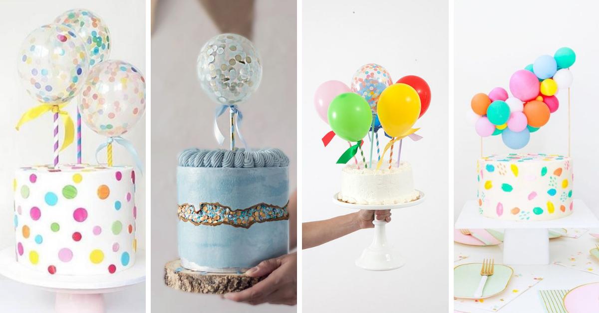 Topos de Bolos com Balões- Super Tendência