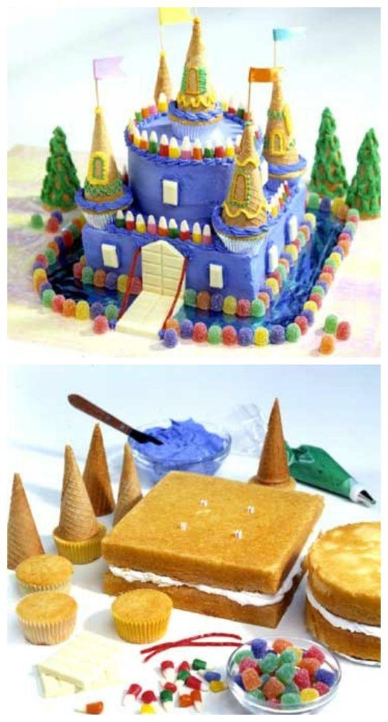 bolos criativos feitos casa castelo