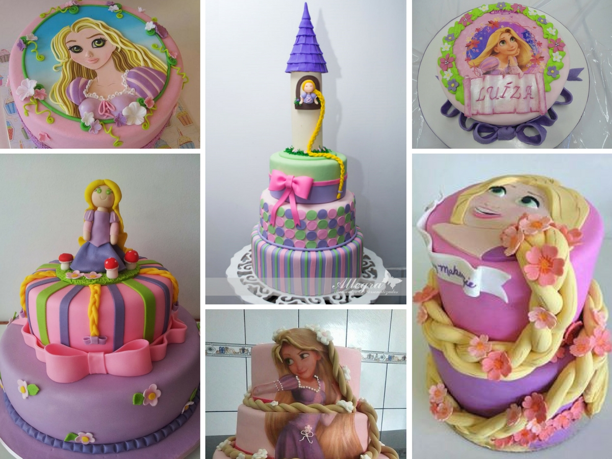 Bolos Decorados da Rapunzel