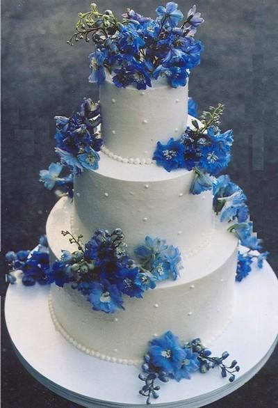 bolos de casamento azuis 4
