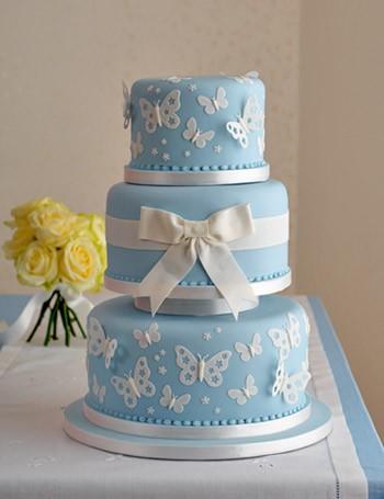 bolos de casamento azuis