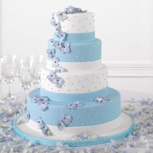 bolos de casamento azul