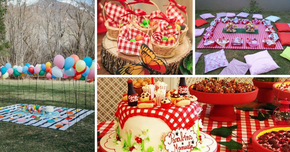 15+ Ideias e Bolos para Festa Picnic