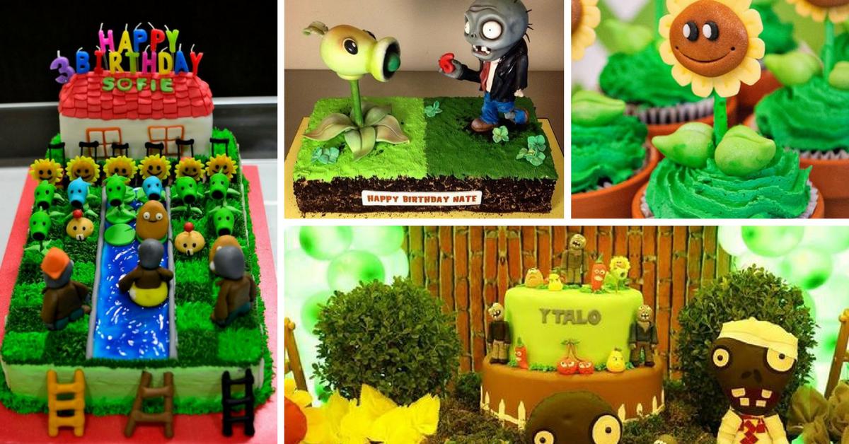 Bolos Decorados Plants vs Zombies