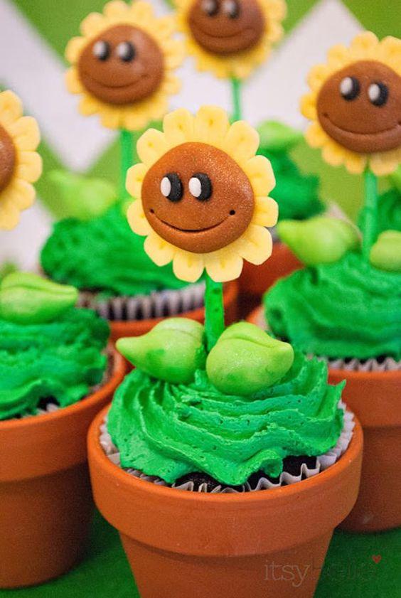 bolos decorados Plants vs Zombies 2