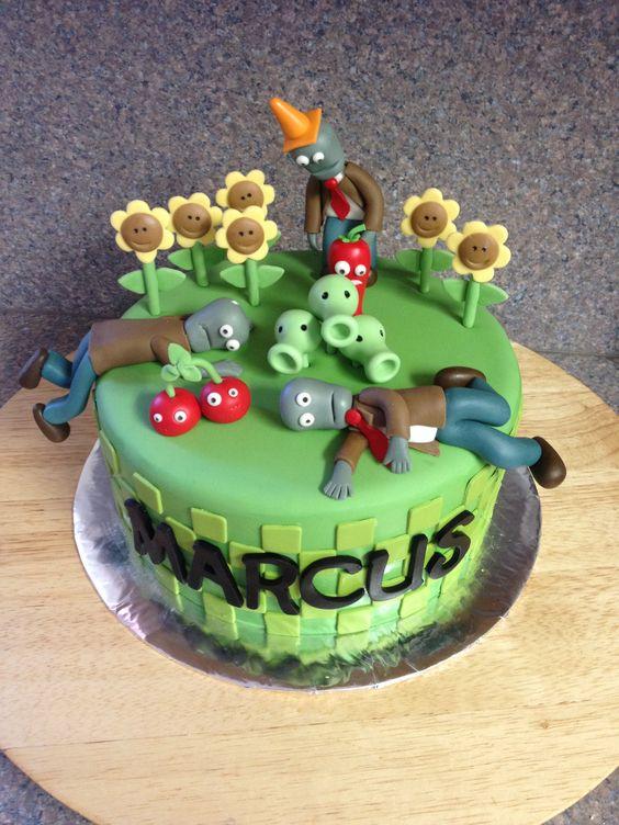 bolos decorados Plants vs Zombies 3