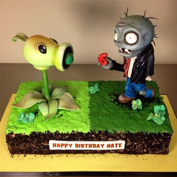 bolos decorados Plants vs Zombies 6
