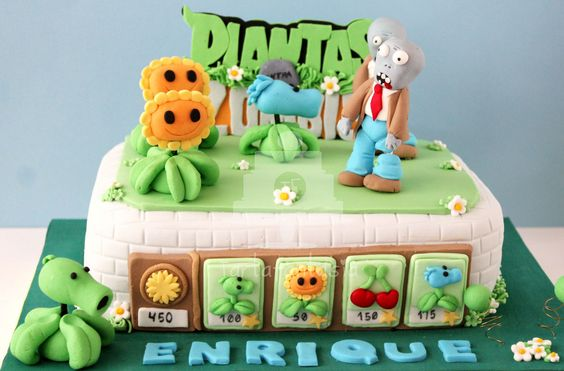 bolos decorados Plants vs Zombies 9