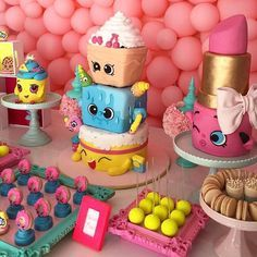 bolos decorados Shopkins 3