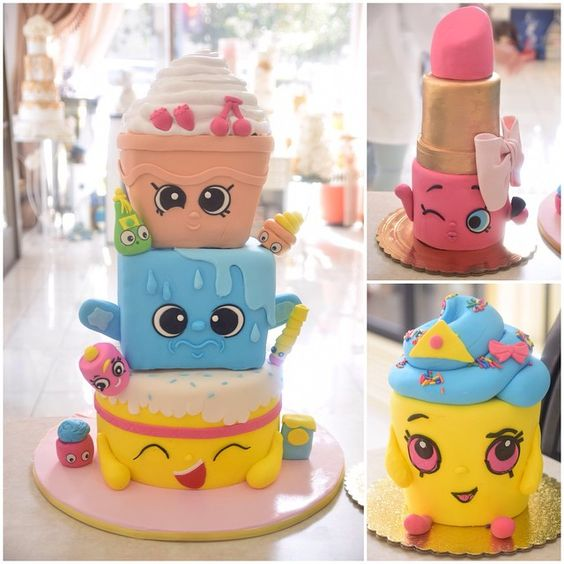 bolos decorados Shopkins 4