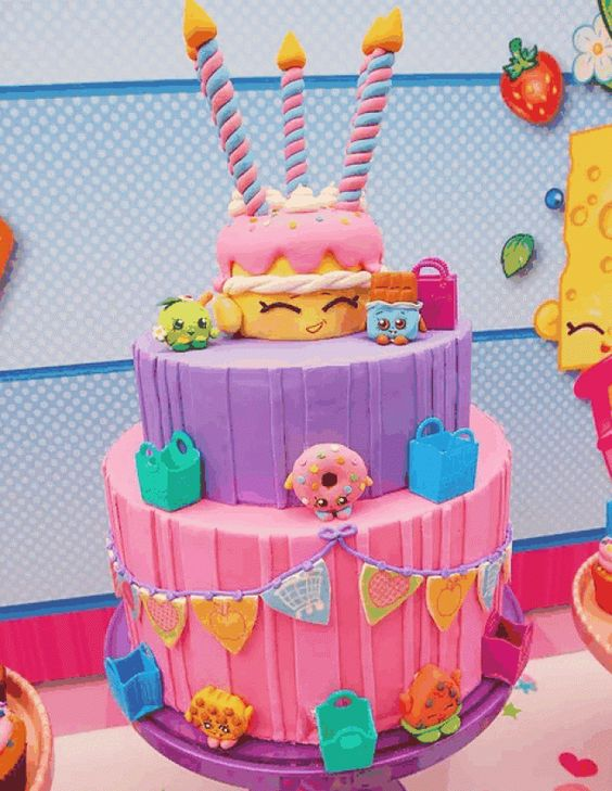 bolos decorados Shopkins 6