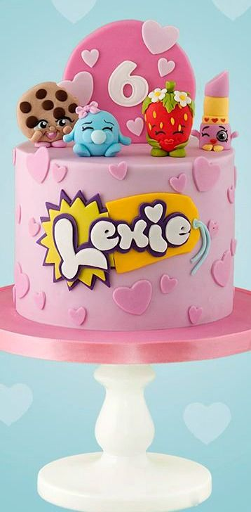 bolos decorados Shopkins 7