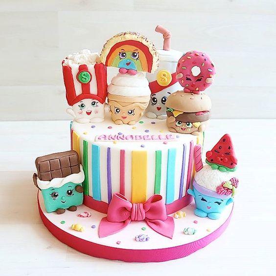 bolos decorados Shopkins 9