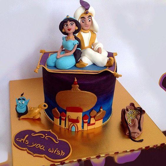 bolos decorados aladim 3
