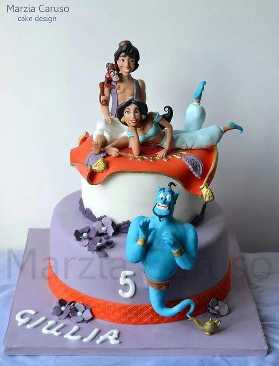 bolos decorados aladim 5