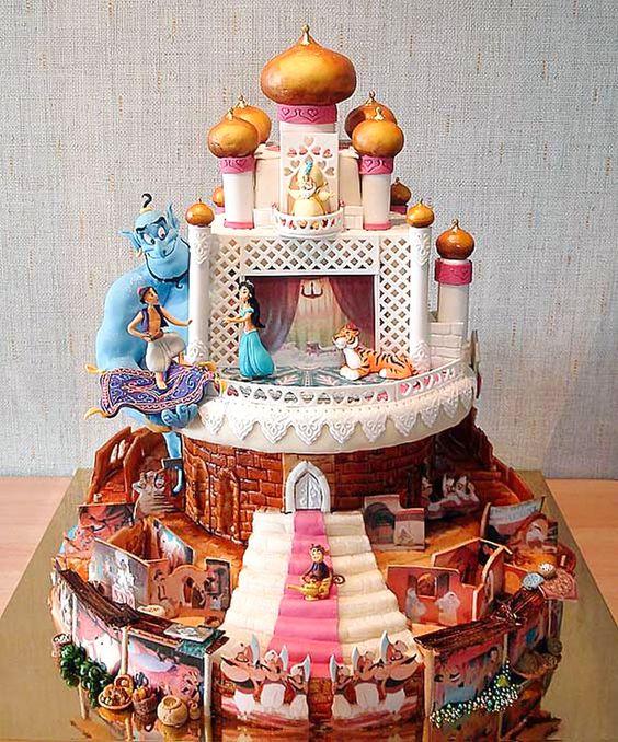 bolos decorados aladim 7