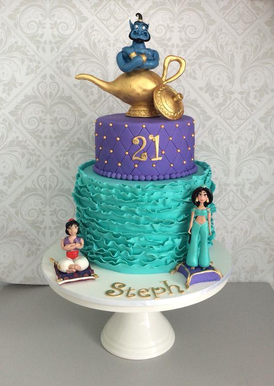 bolos decorados aladim 9