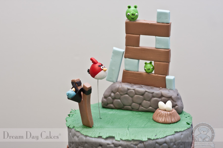 bolos decorados angry bird