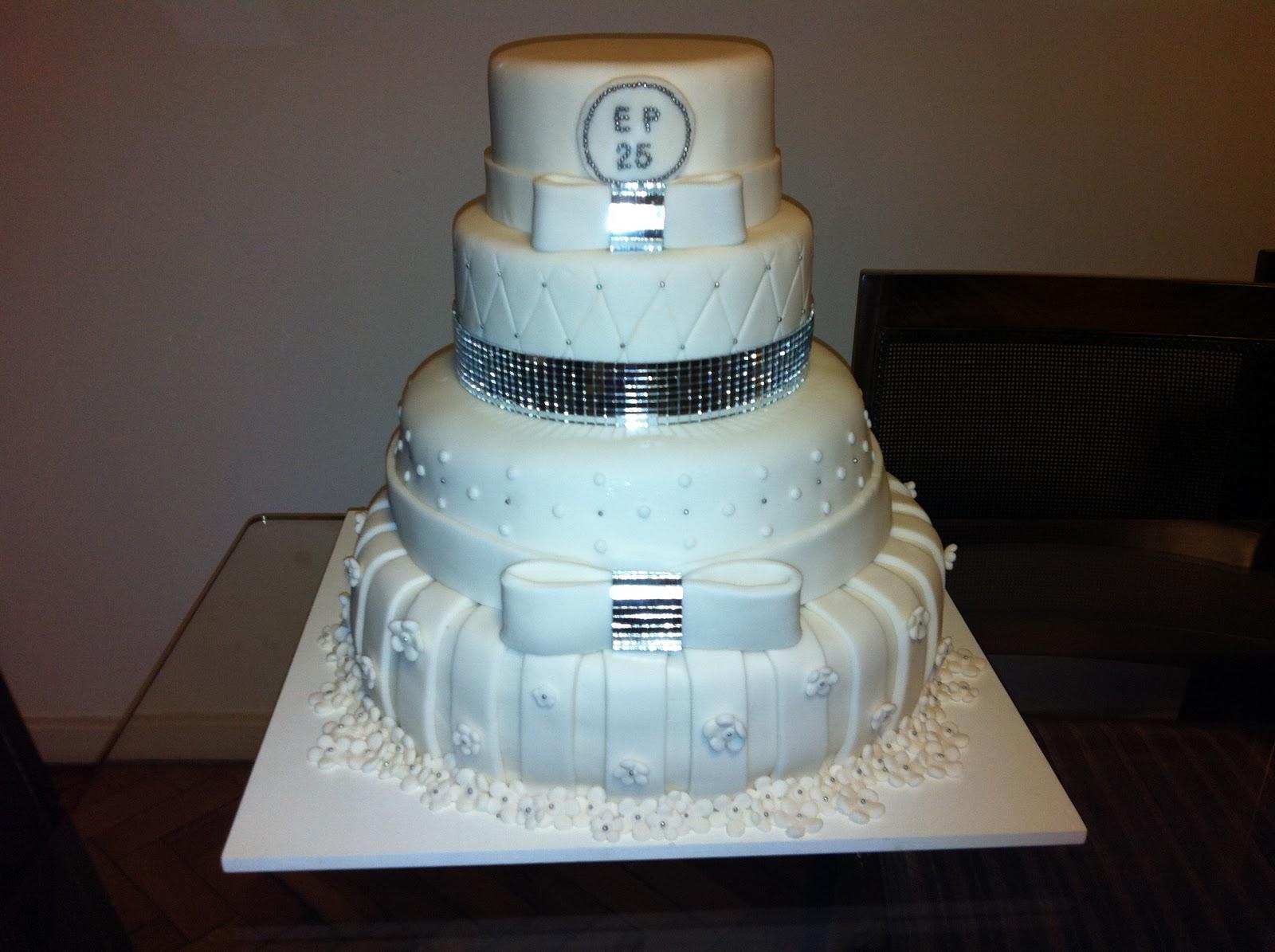 bolos decorados bodas de prata