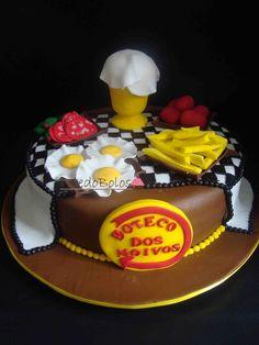 bolos decorados boteco