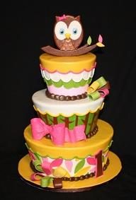 bolos decorados coruja