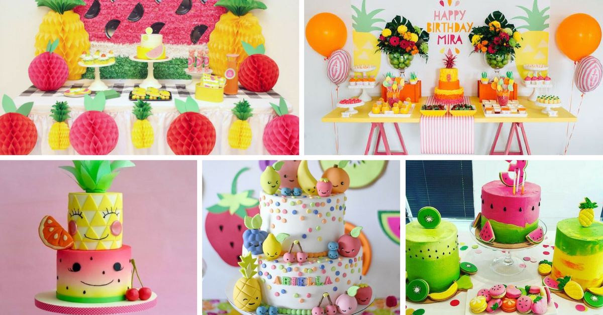 Bolos Decorados Festa Tema Tutti Frutti