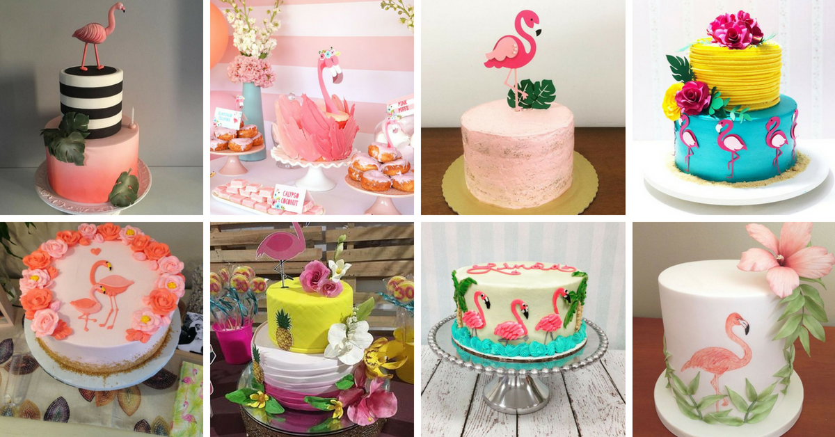 20+ Bolos Decorados Flamingo