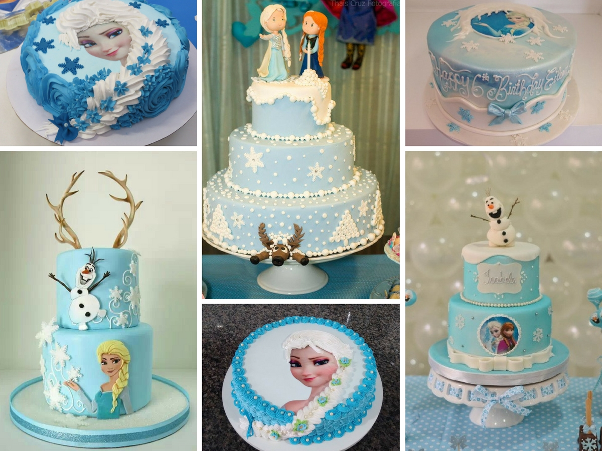 Bolos da Frozen Decorados