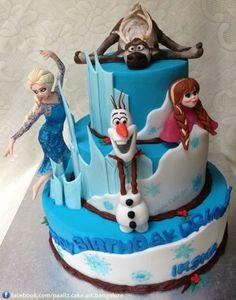 bolos decorados frozen