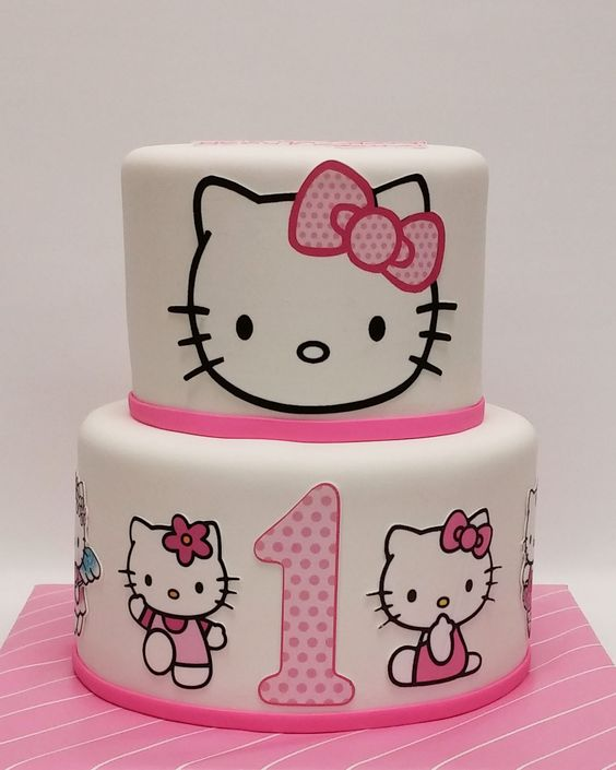 bolos decorados hello kitty 1