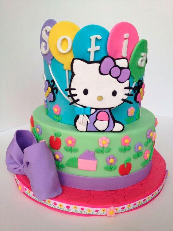 bolos decorados hello kitty 12