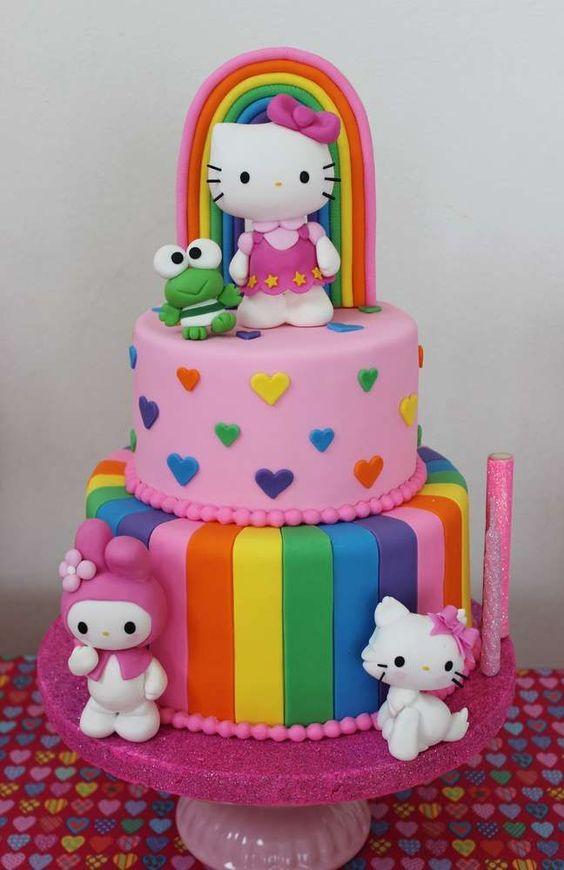 bolos decorados hello kitty 18
