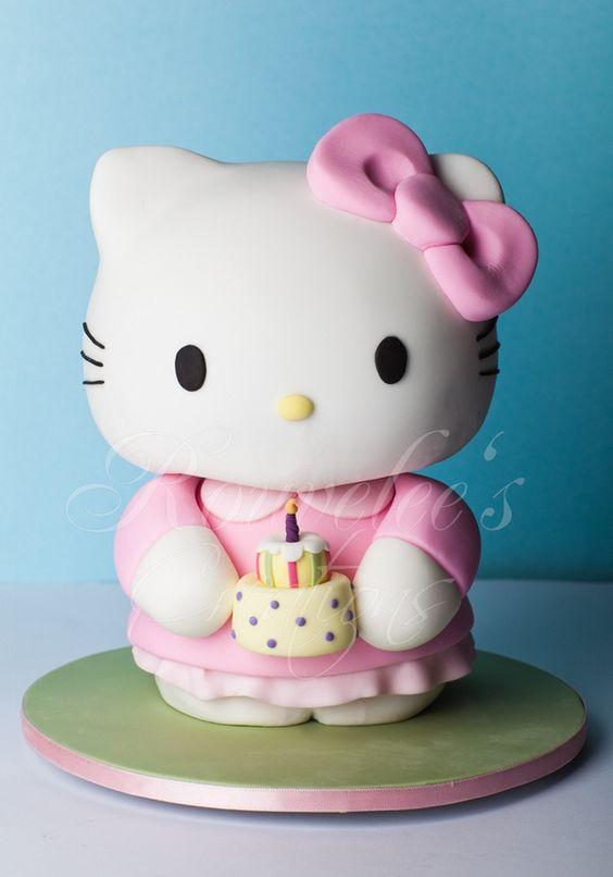 bolos decorados hello kitty 9