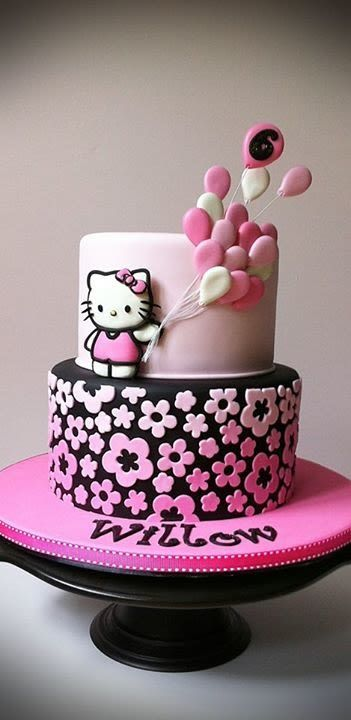 bolos decorados hello kitty