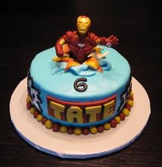 bolos decorados homem de ferro