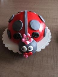 bolos decorados joaninha