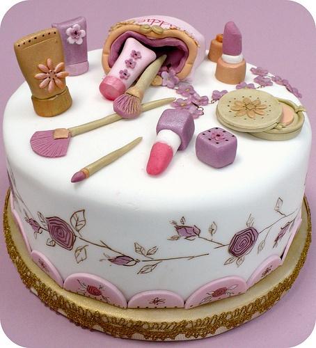 bolos decorados maquiagem