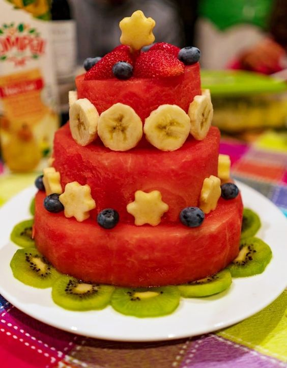 bolos decorados melancia 2