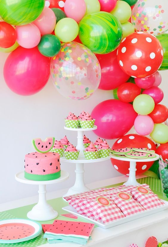 bolos decorados melancia 4