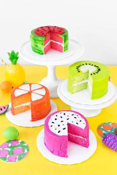 bolos decorados melancia