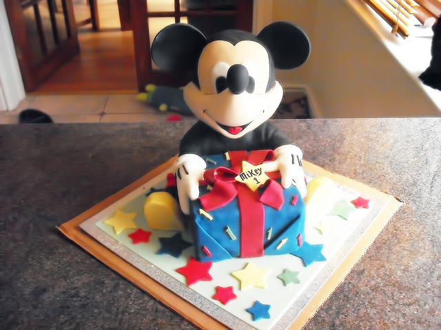 bolos decorados mickey