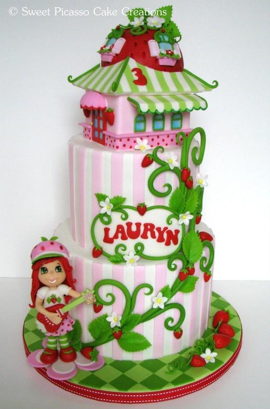 bolos decorados moranguinho