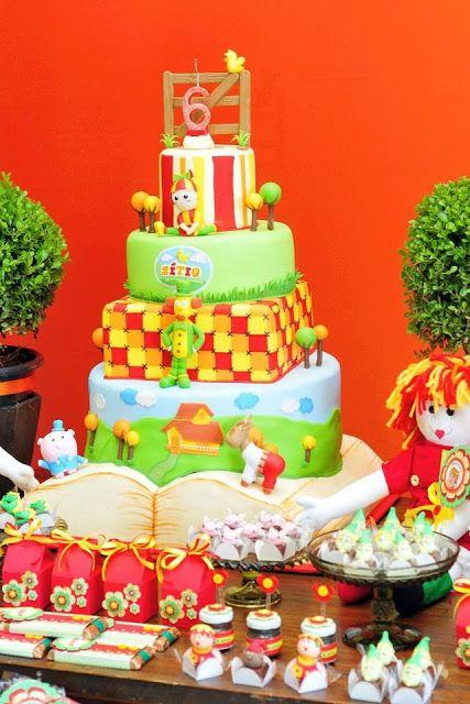 bolos decorados pica pau amarelo 1